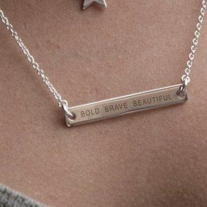 Sterling Bar Necklace