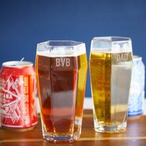 geometric beer glass