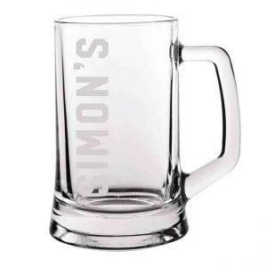 Personalised beer glass